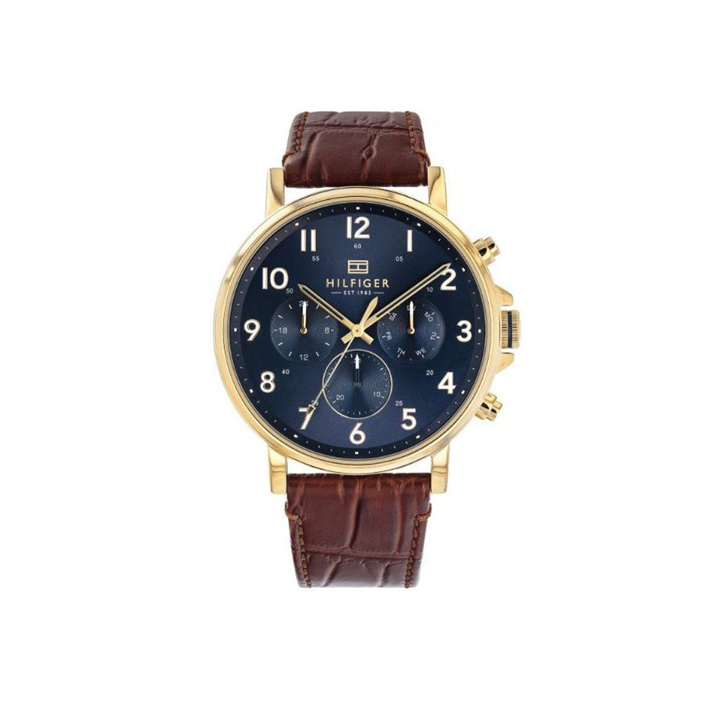 Tommy Hilfiger Daniel Men's Brown Leather Multi-function Watch Model 1710380