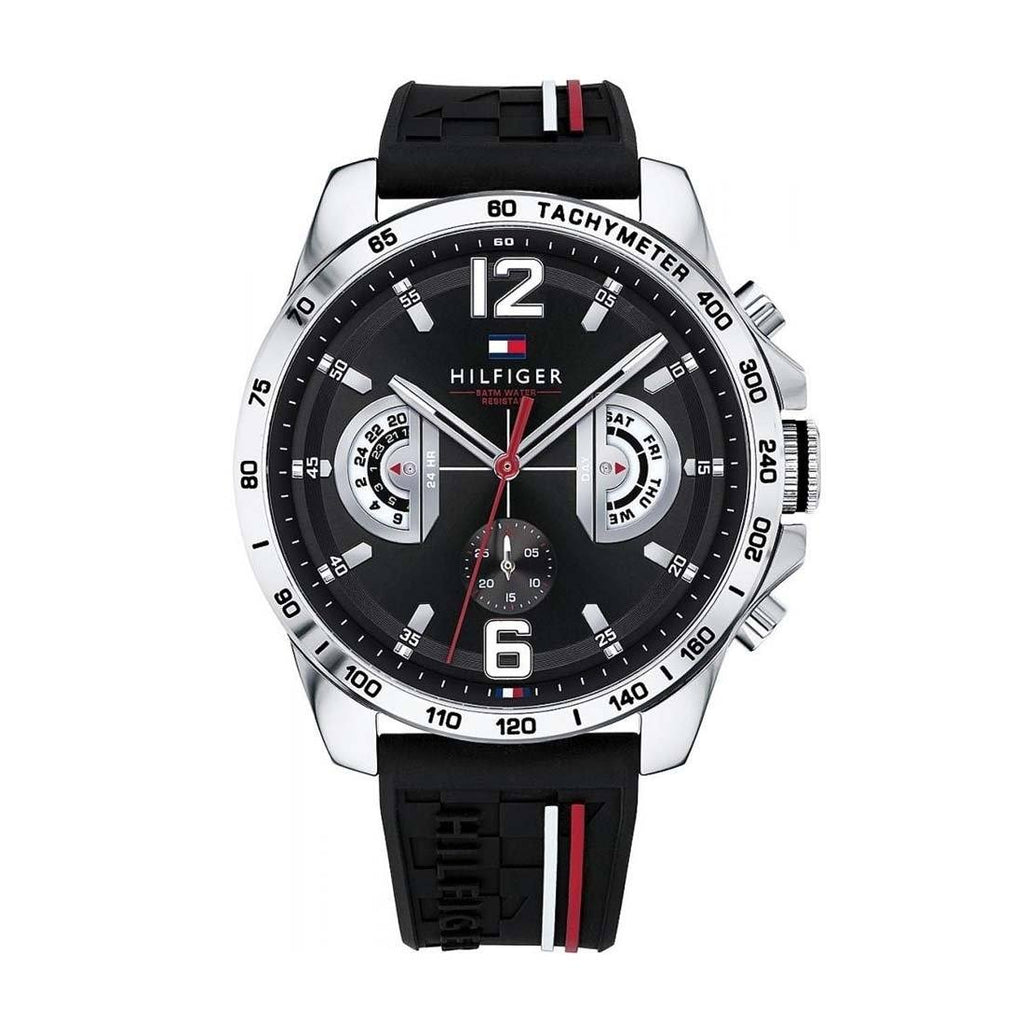 Tommy Hilfiger Multifunction Mens Black Watch Model 1791473 Watches Tommy Hilfiger