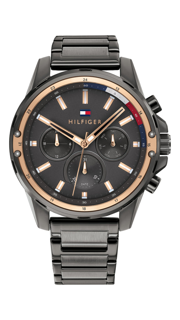 Tommy Hilfiger Mason Grey Face Case Band Watch 1791790 Watches Tommy Hilfiger