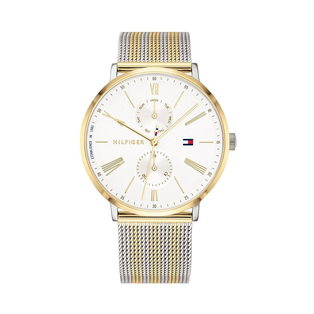 Tommy Hilfiger Ladies Jenna Multifunction 2 Tone Mesh Watch Model 1782074 Watches Tommy Hilfiger