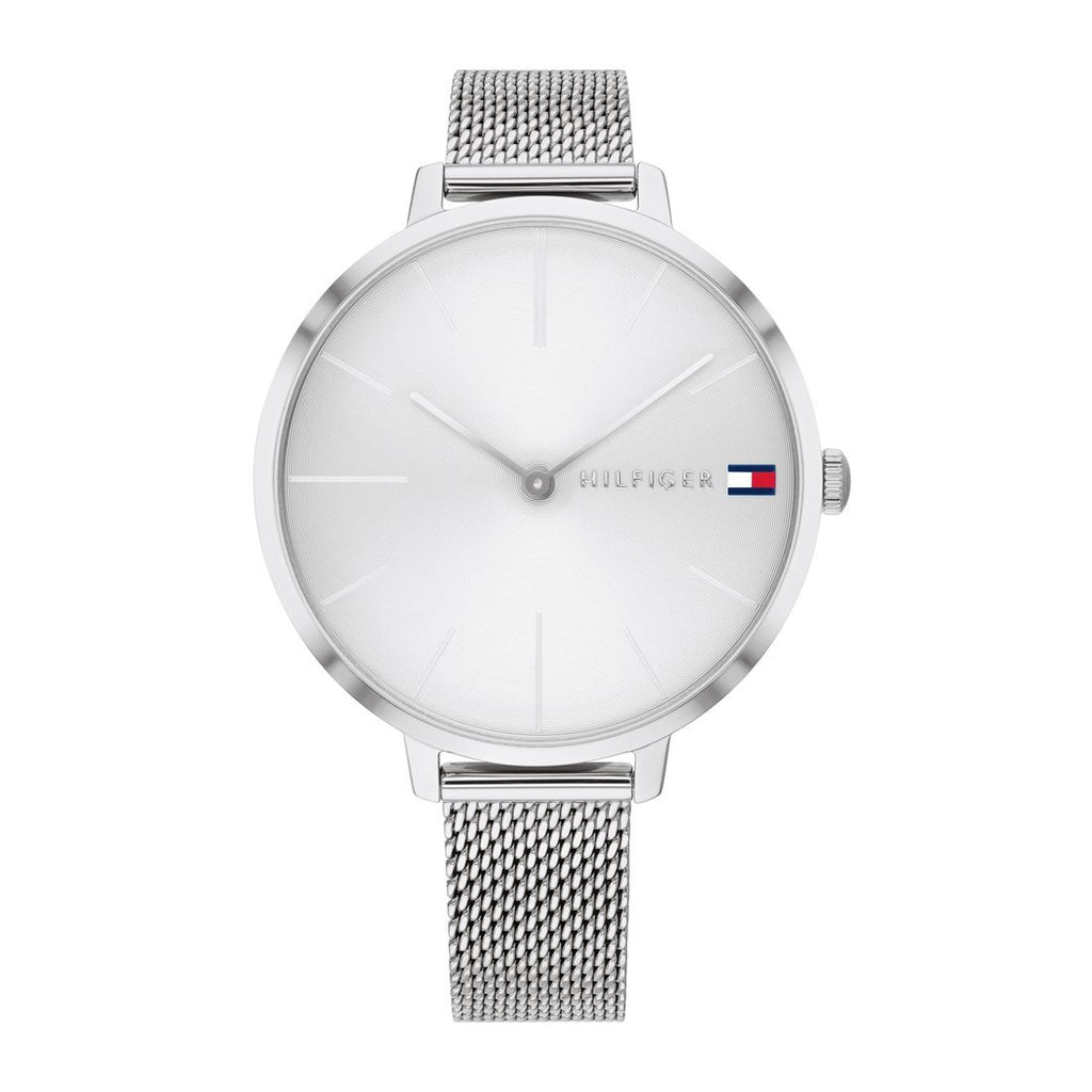 Tommy Hilfiger White Silver Mesh Watch 1782163