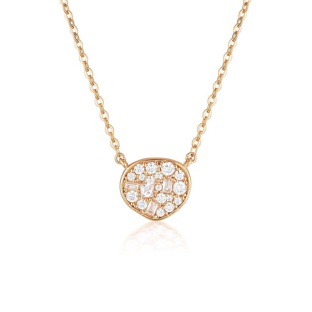 GEORGINI FILI SMALL MOSAIC ROSE GOLD PENDANT Bevilles Jewellers