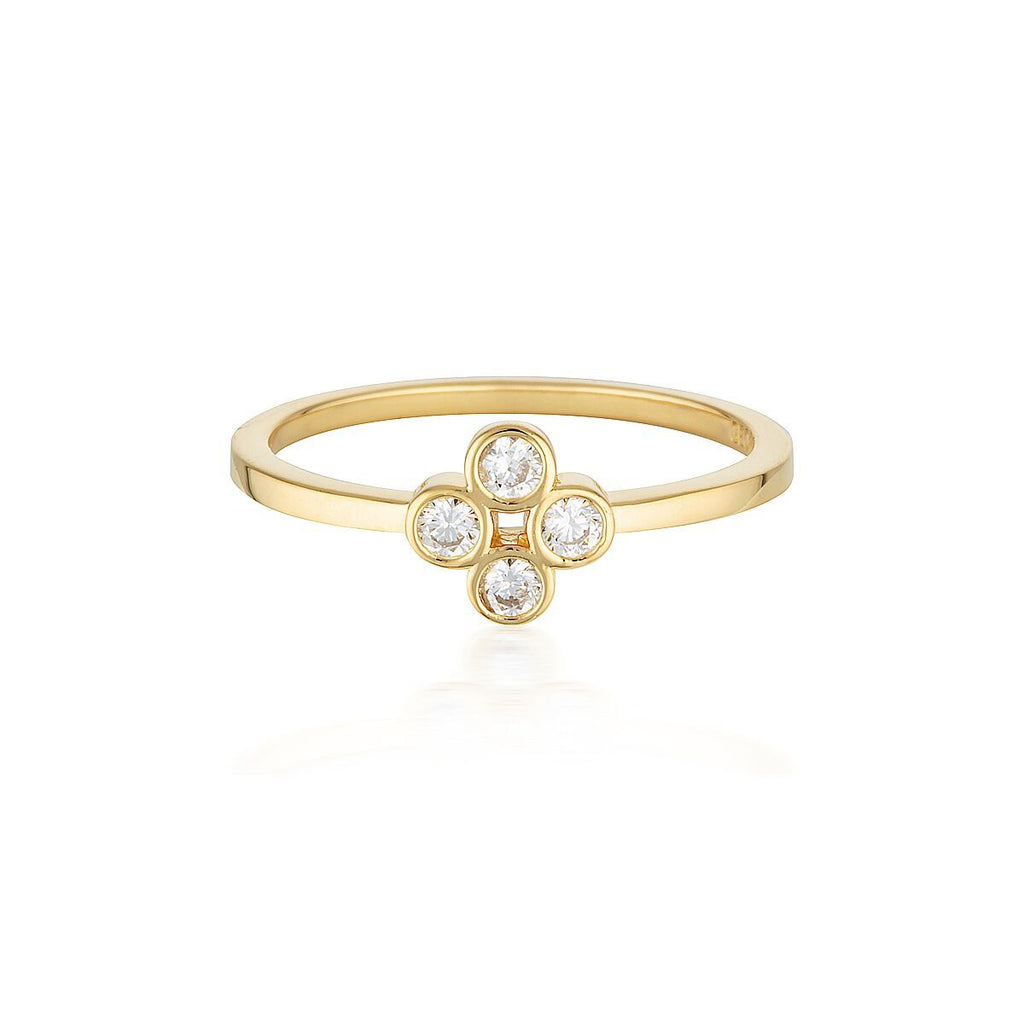 STELLAR LIGHTS GOLD TWINKLE RING Bevilles Jewellers