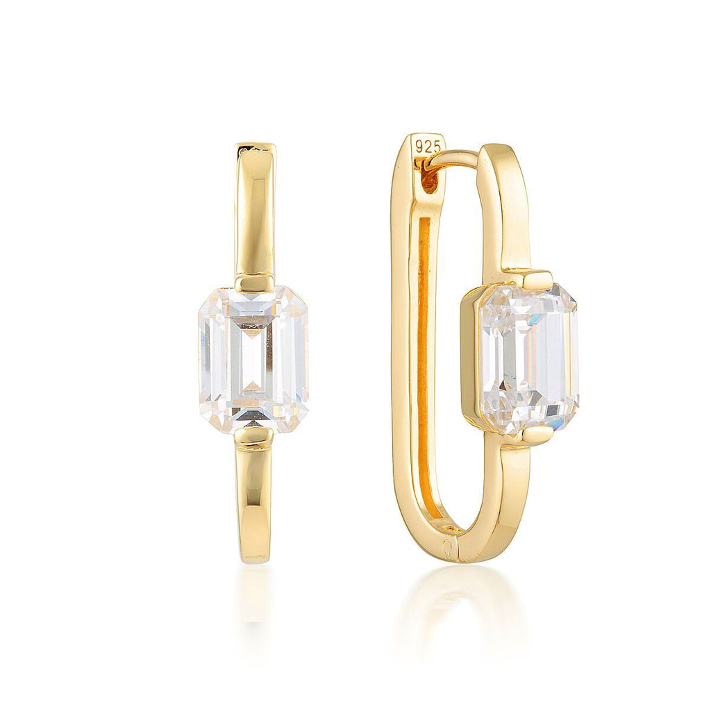 GEORGINI EMILIO GOLD HOOP EARRINGS Bevilles Jewellers