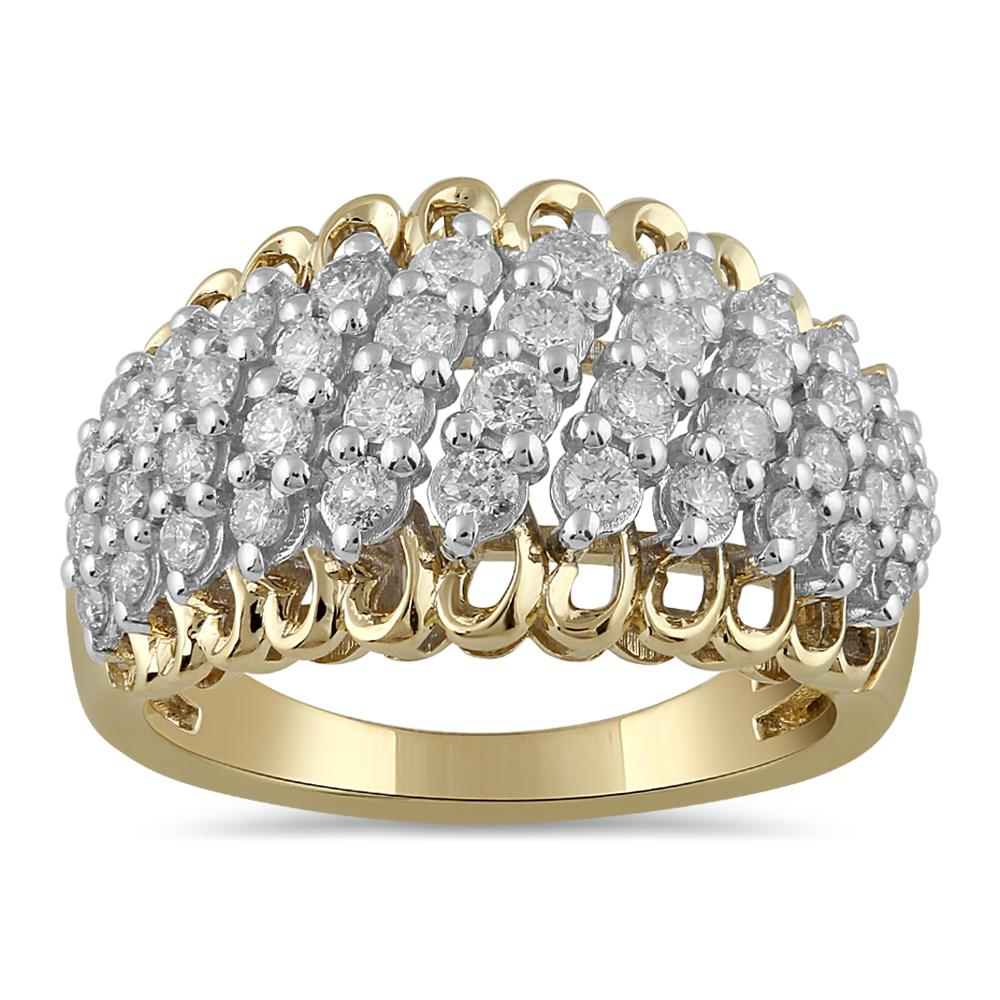 Brilliant Set Ring with 1.00ct of Diamonds in 9ct Yellow Gold