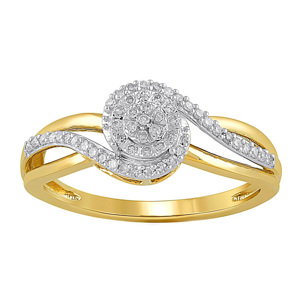 Brilliant Ring with 0.15ct of Diamonds in 9ct Yellow Gold Rings Bevilles