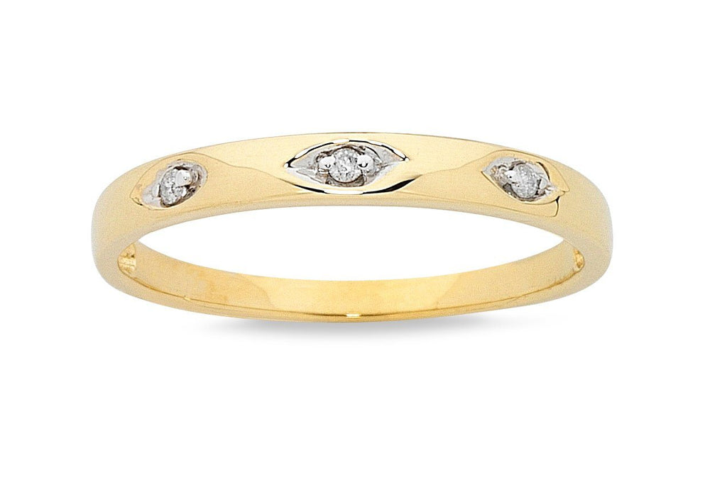 Cluster Two Ring Set with 1/4ct of Diamonds in 9ct Yellow Gold