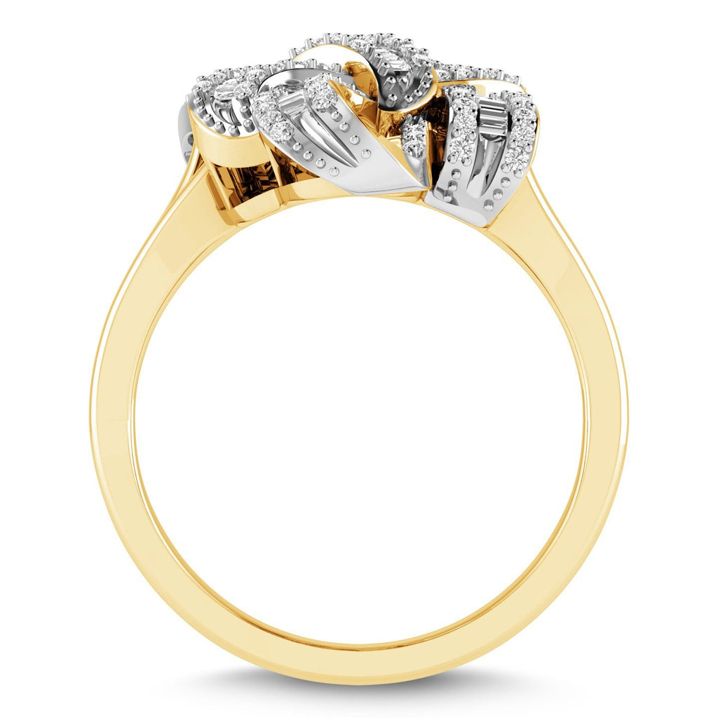 Brilliant Swirl Ring with 1/2ct of Diamonds in 9ct Yellow Gold Rings Bevilles