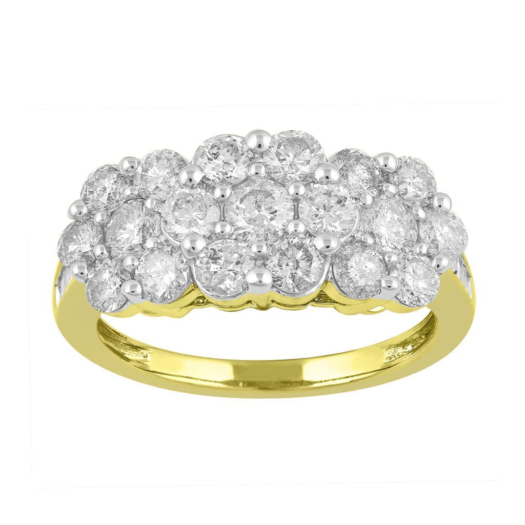 9ct Yellow Gold 2.00ct Diamond Ring Rings Bevilles