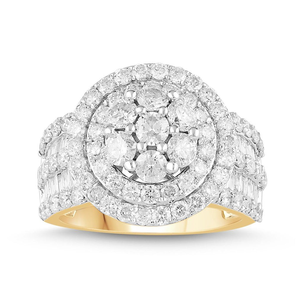 Brilliant Channel Set Ring with 2.65ct of Diamonds in 9ct Yellow Gold Rings Bevilles