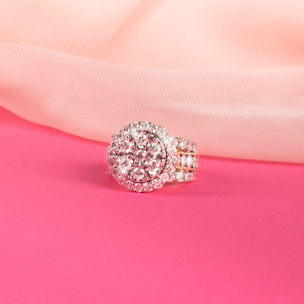 Brilliant Miracle Cluster Halo Ring with 2.00ct of Diamonds in 9ct Yellow Gold