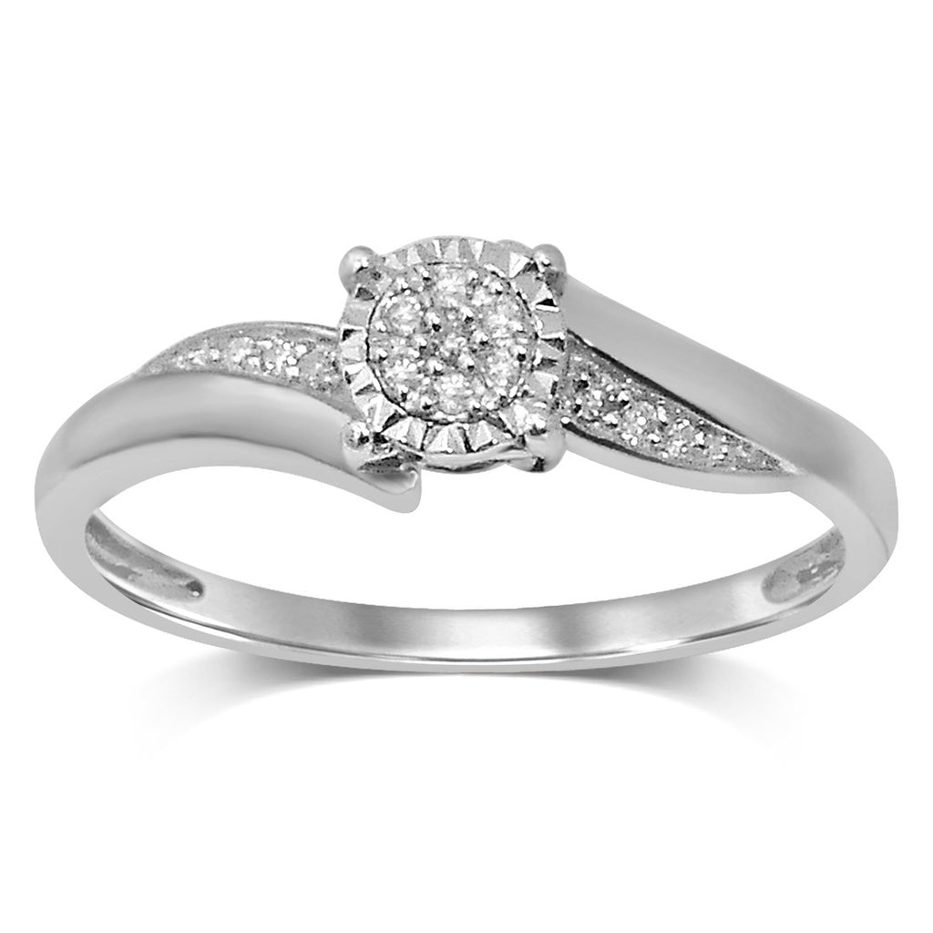 Brilliant Illusion Diamond Set Ring in 9ct White Gold