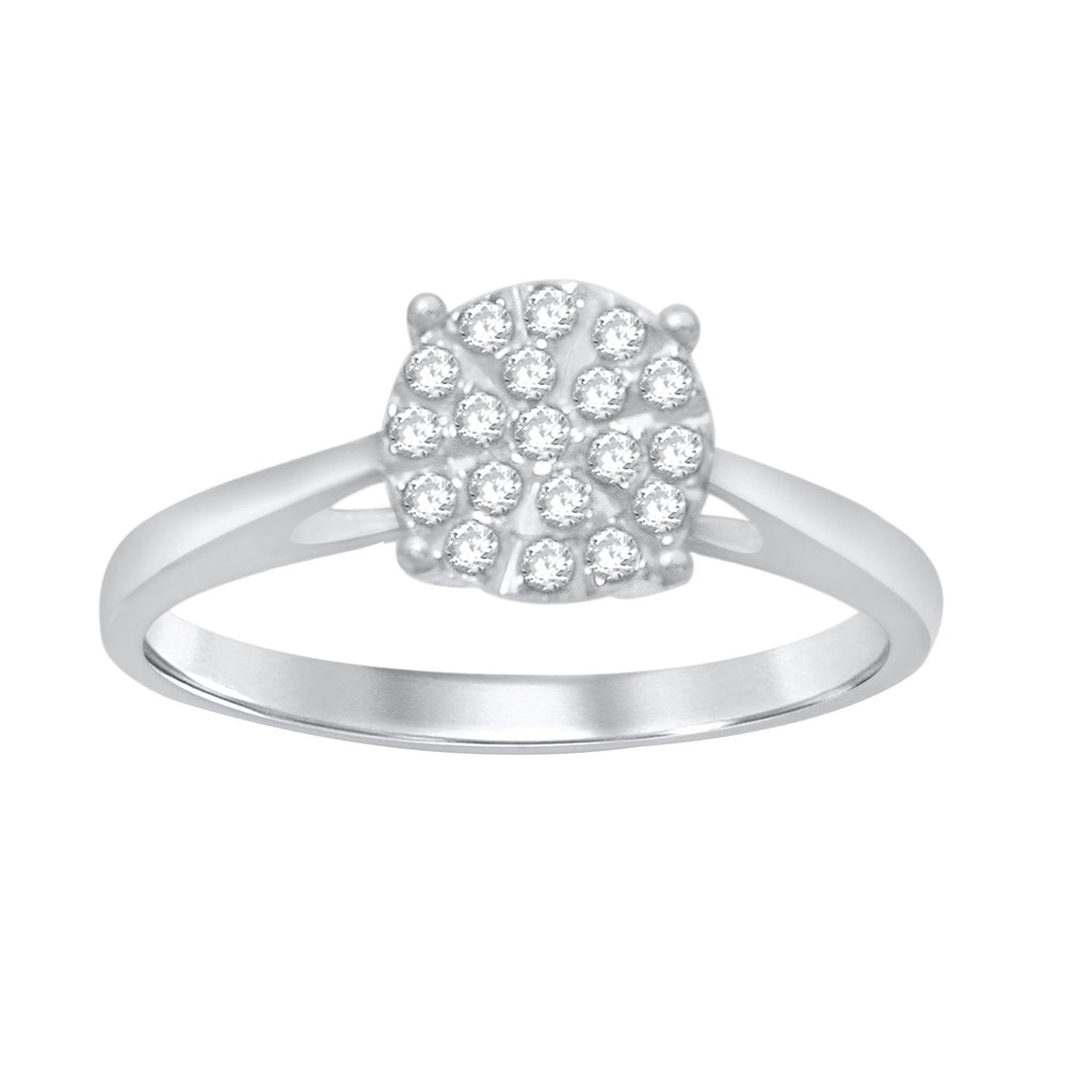 Martina Ring with 1/4ct of Diamonds in 9ct White Gold Rings Bevilles