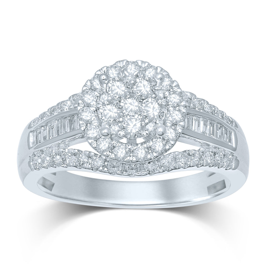 Brilliant Channel Ring with 0.85ct of Diamonds in 9ct White Gold