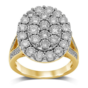 9ct Yellow Gold 1.25ct Miracle Set Diamond Ring