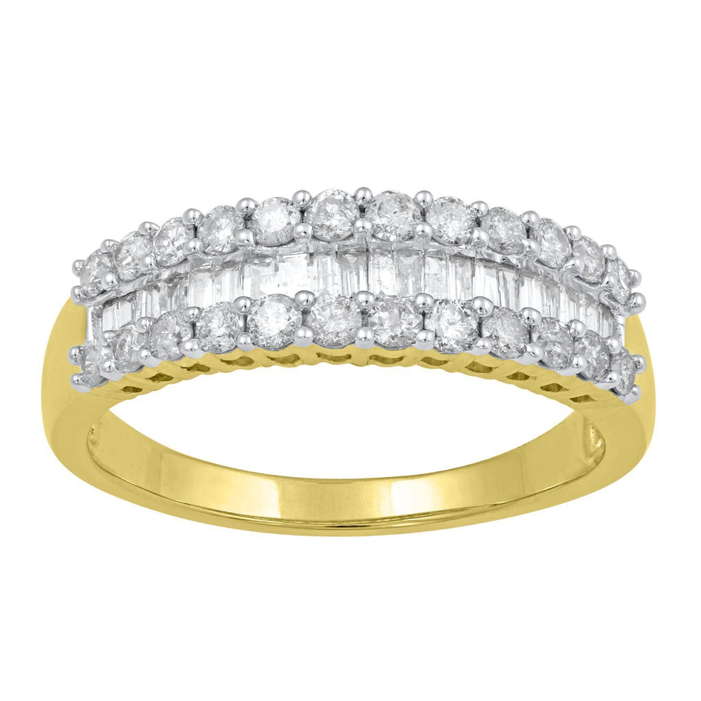 Baguette Channel Ring with 1.00ct of Diamonds in 9ct Yellow Gold Rings Bevilles