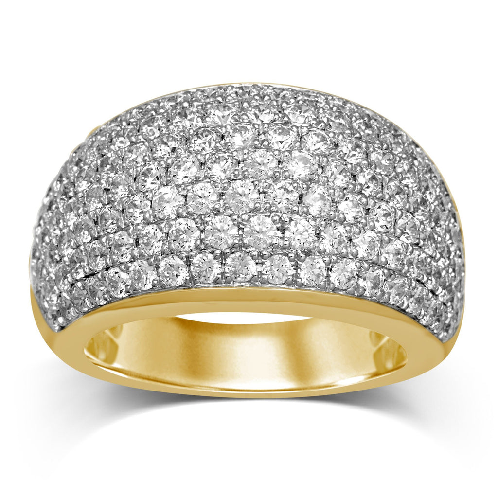 Pave Dress Ring with 2.50ct of Diamonds in 9ct Yellow Gold Rings Bevilles