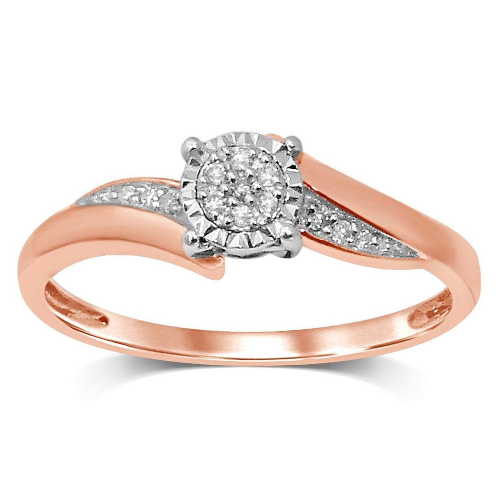 Brilliant Illusion Diamond Set Ring in 9ct Rose Gold Rings Bevilles