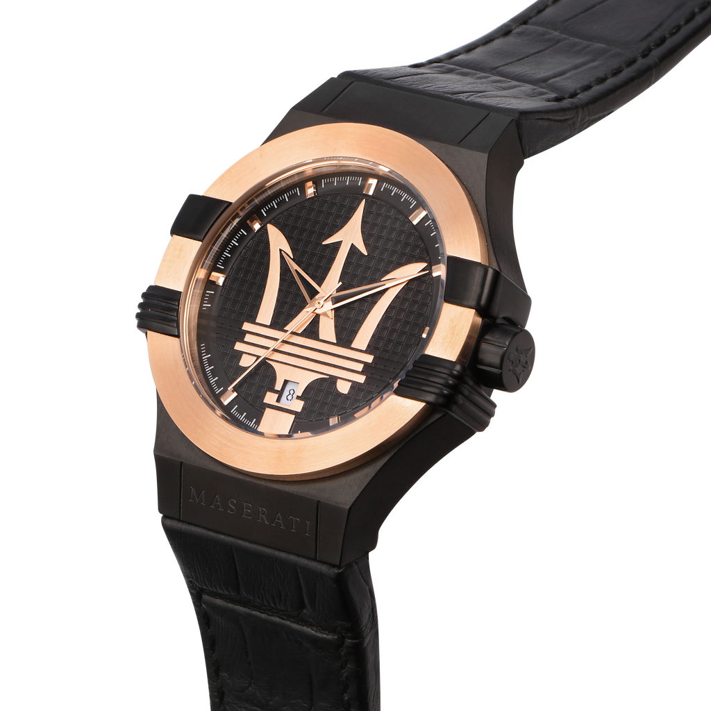 Maserati POTENZA 42mm Gold Watch Watches Maserati