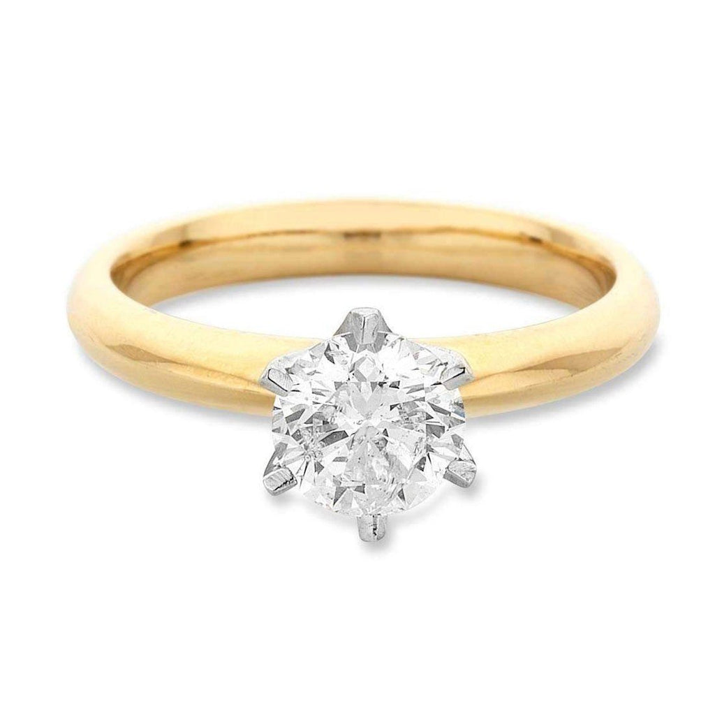 Facets of Love Solitaire Ring with 0.30ct Diamond in 18ct Yellow Gold Rings Bevilles