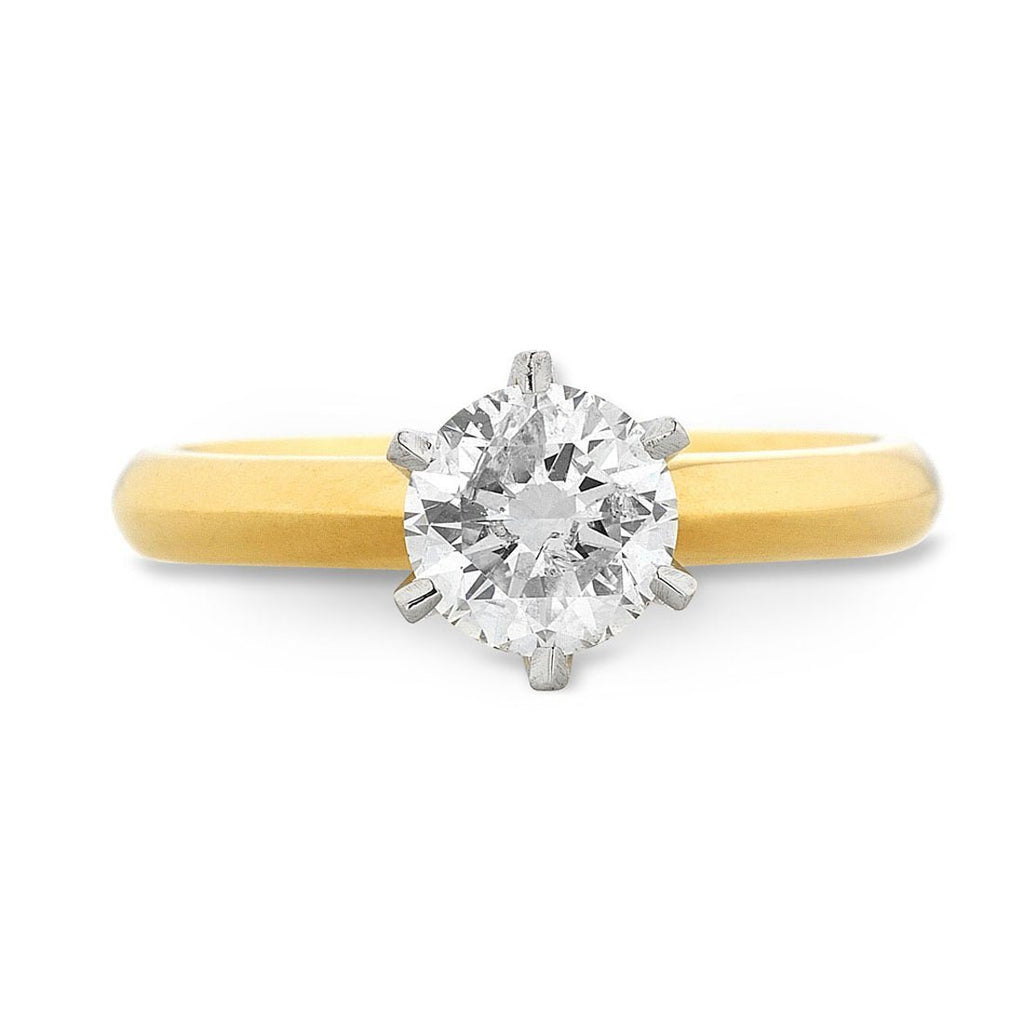 Facets of Love Tia Brilliant Love 18ct Yellow Gold 0.40ct Diamond Ring