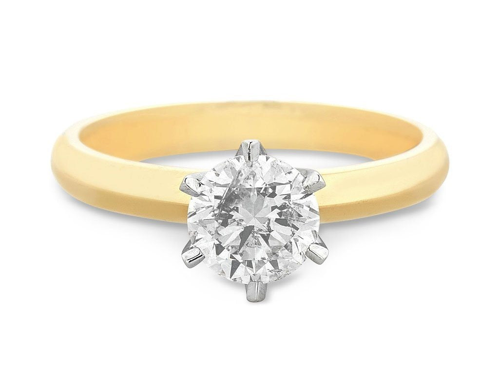 Facets of Love Tia Brilliant Love 18ct Yellow Gold 0.50ct Diamond Ring