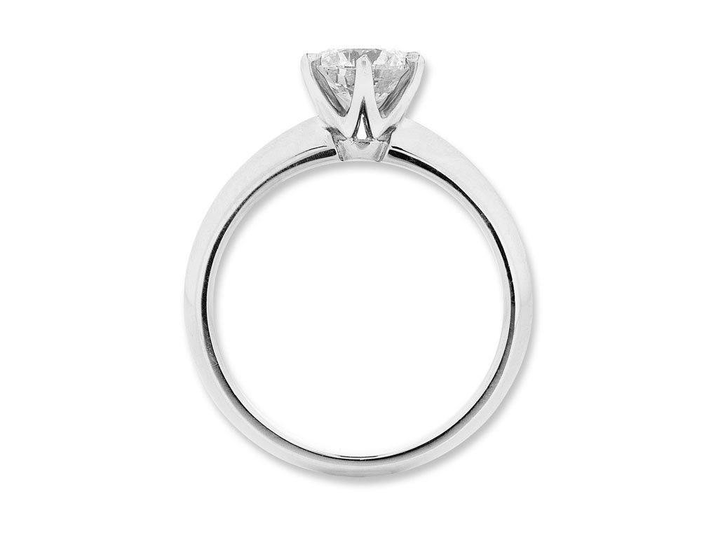 Facets of Love Tia Brilliant Love 1/2ct Diamond Solitaire Ring in 18ct White Gold Rings Bevilles