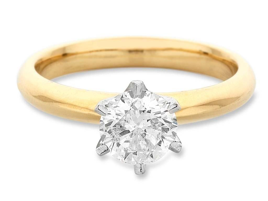 Facets of Love Tia Brilliant Love 18ct Yellow Gold 0.70ct Diamond Ring