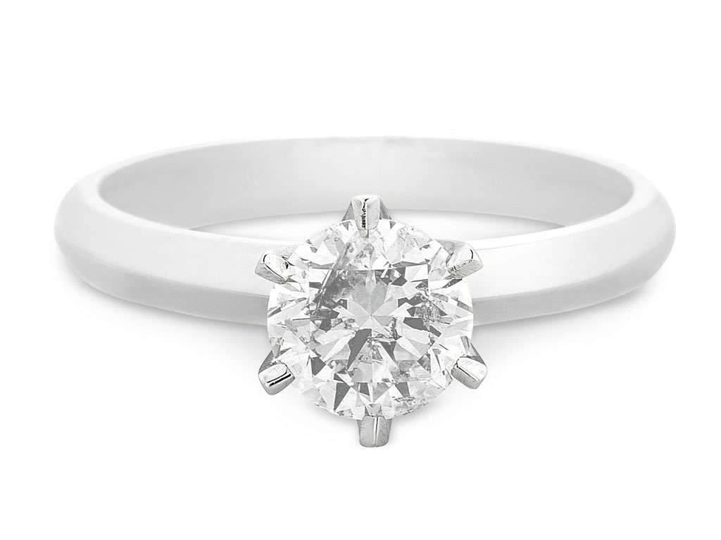 Facets of Love Solitaire Ring with 1.00ct of Diamond in 18ct White Gold Rings Bevilles