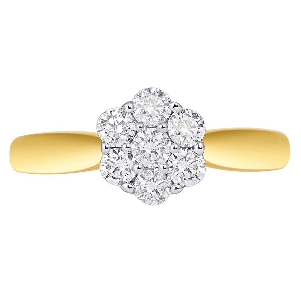 18ct Yellow Gold 1/2ct Diamond Ring