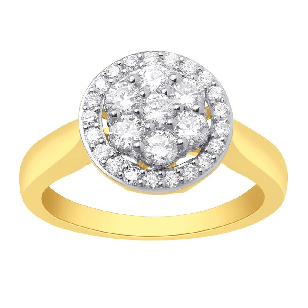 18ct Yellow Gold 0.75ct Diamond Ring