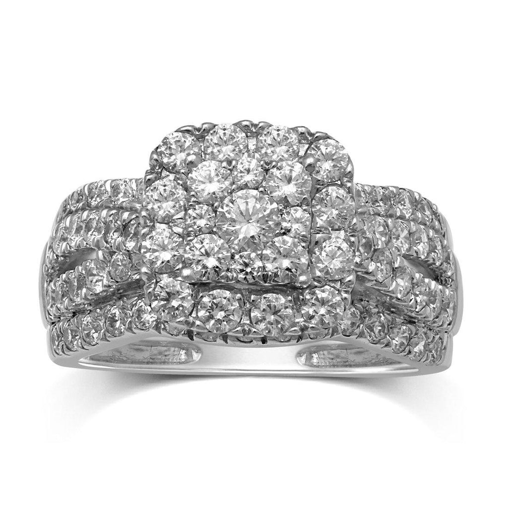 18ct White Gold 1.50ct Square Diamond Fancy Ring