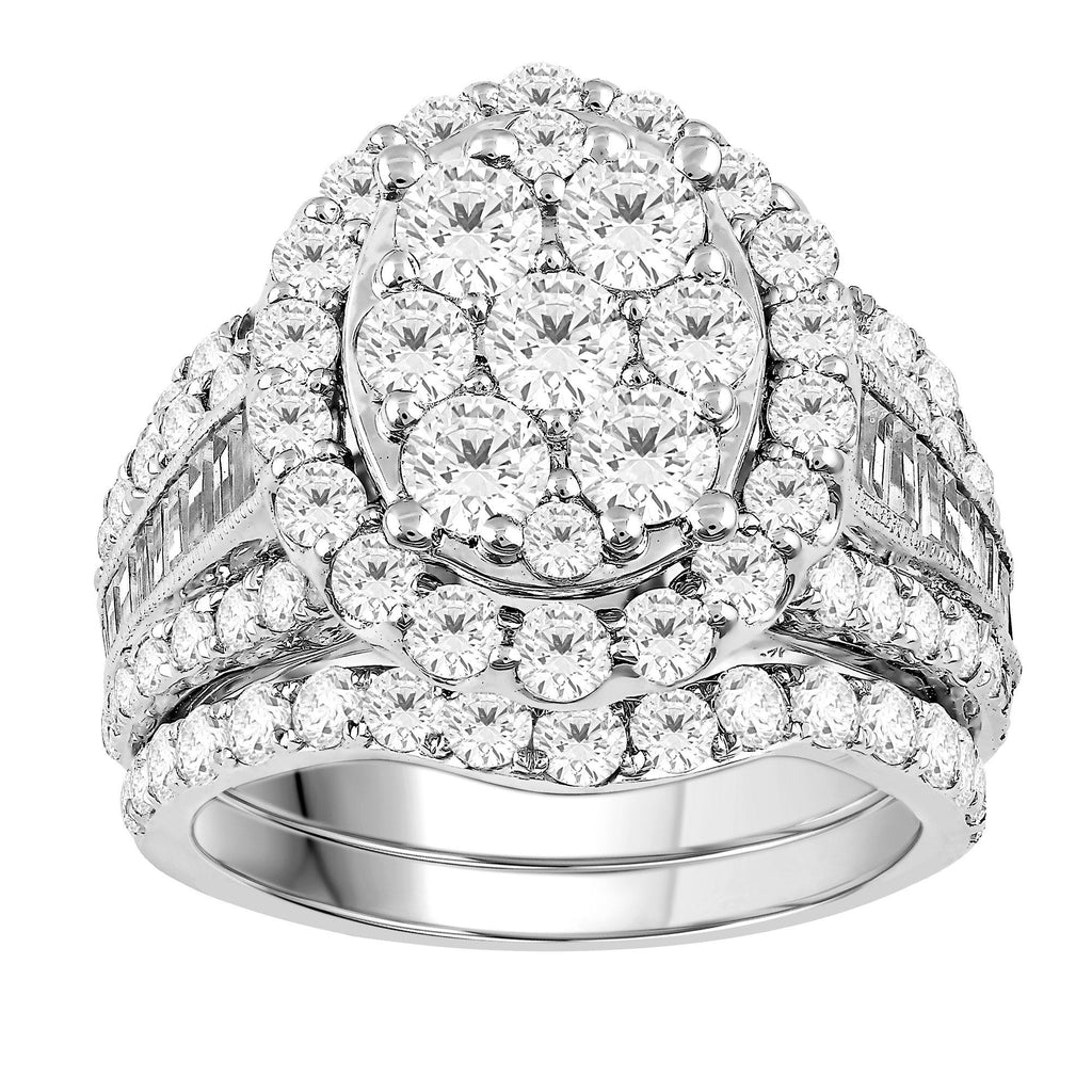 Kate Oval Baguette Channel Ring with 4.00ct of Diamonds in 18ct White Gold Rings Bevilles