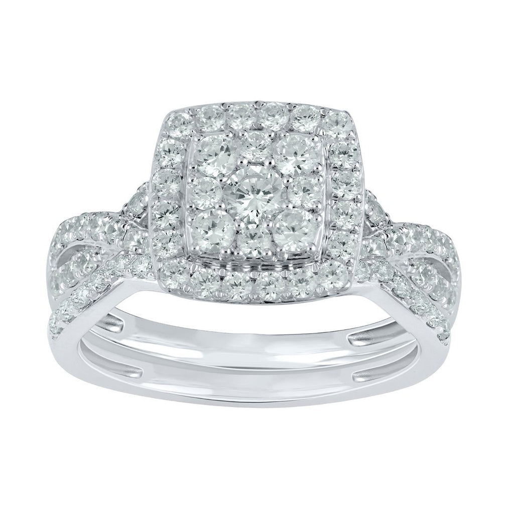 18ct White Gold 1.50ct Diamond Ring Rings Bevilles