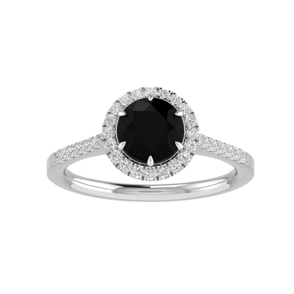 18ct White Gold Black Diamond Ring with 1.50ct of Diamonds Rings Bevilles