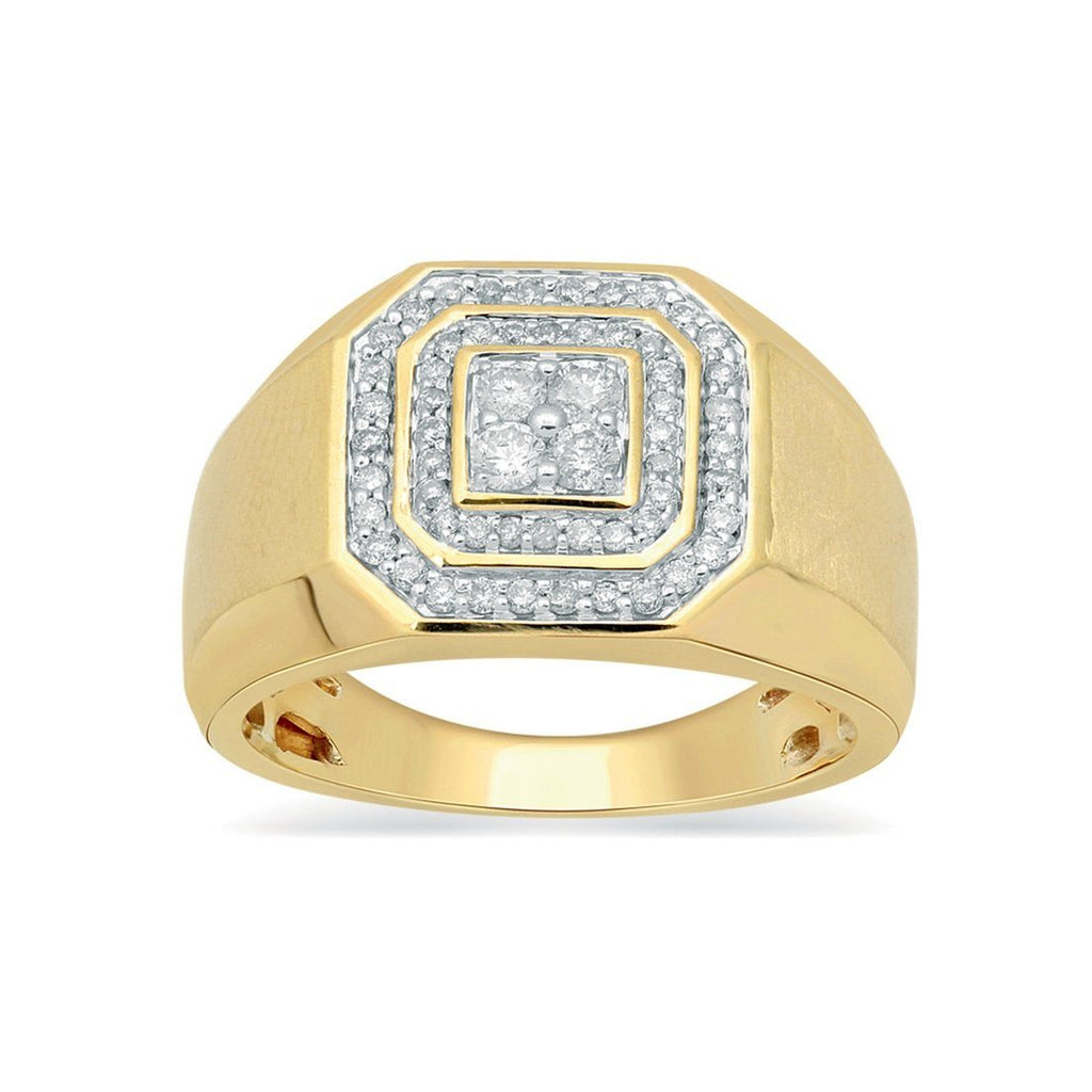 9ct Yellow Gold 0.50ct Men's Diamond Ring