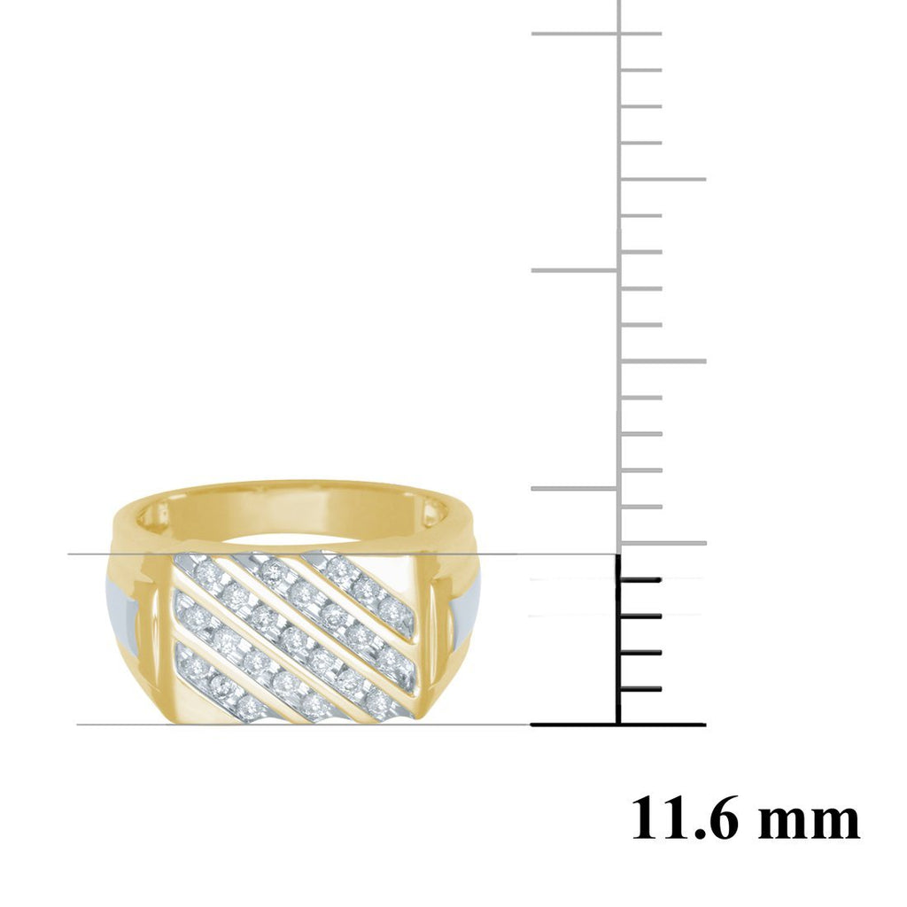 9ct Yellow Gold Mens DiamondRing Rings Bevilles