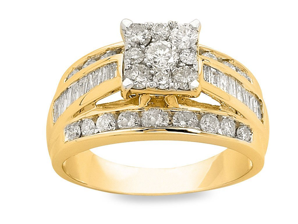 9ct Yellow Gold 1.50ct Diamond Ring