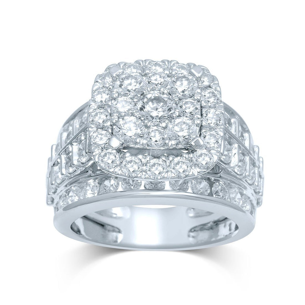 9ct White Gold 4.00ct of Diamond Ring Rings Bevilles