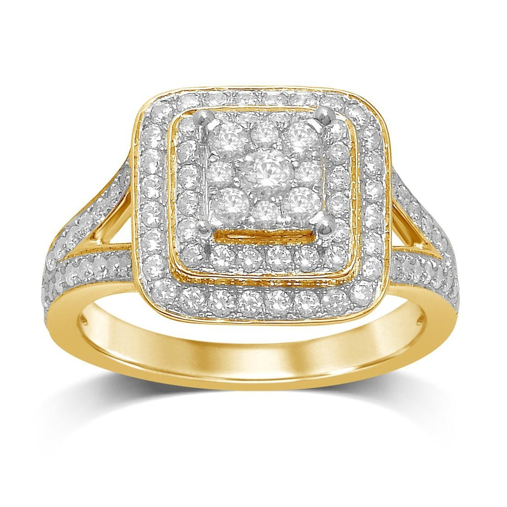 9ct Yellow Gold 1.14ct Diamond Ring