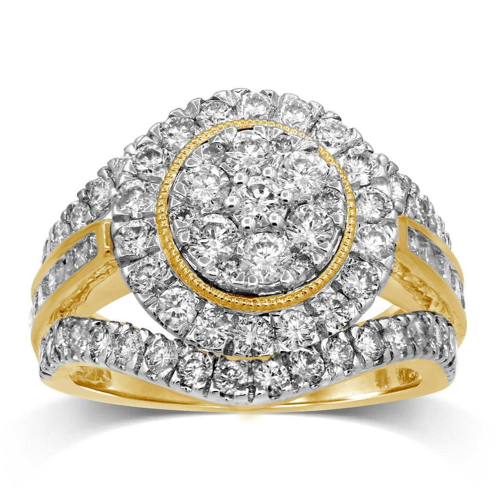 Brilliant Claw Ring with 1.90ct of Diamonds in 9ct Yellow Gold Rings Bevilles
