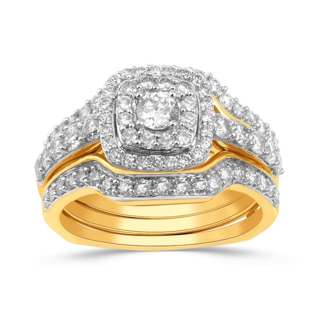 Perfect Harmony Ring with 2.00ct of Diamonds in 9ct Yellow Gold Rings Bevilles