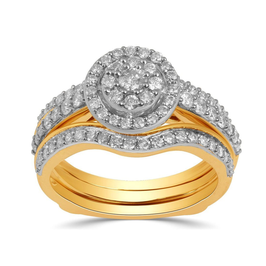 9ct Yellow Gold 1.00ct Diamond Perfect Harmony Ring Rings Bevilles