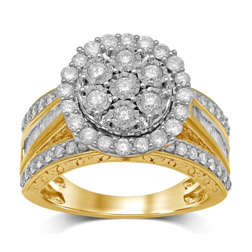 9ct Yellow Gold 1.50ct Diamond Ring Rings Bevilles