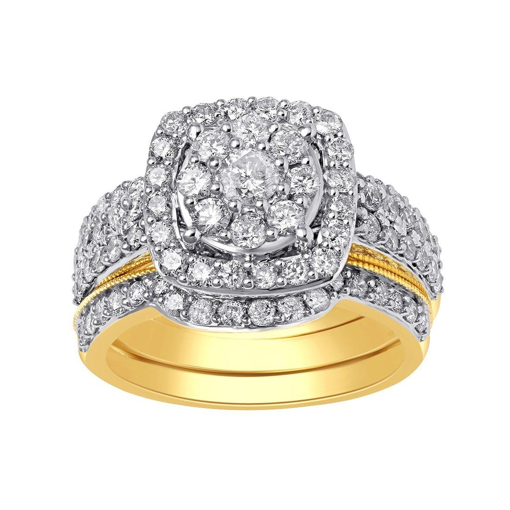 9ct Yellow Gold 2.00ct Diamond Ring Set