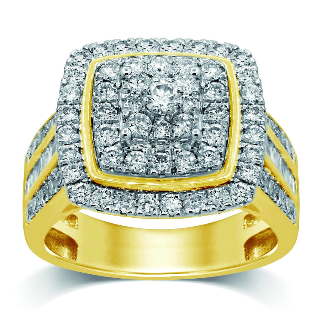 Brilliant Claw Set Ring with 2.00ct of Diamonds in 9ct Yellow Gold Rings Bevilles