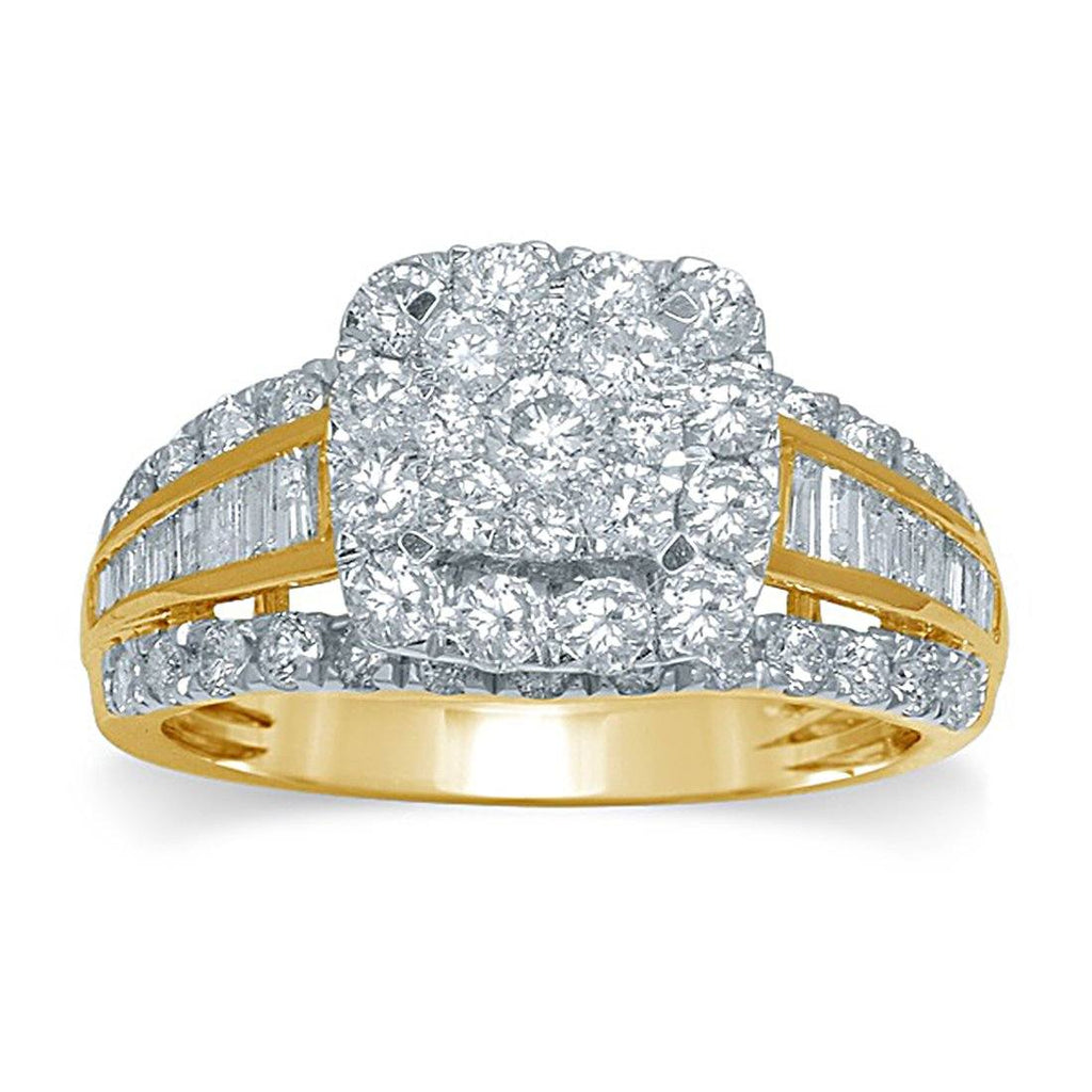 9ct Yellow Gold 1.75ct Diamond Ring