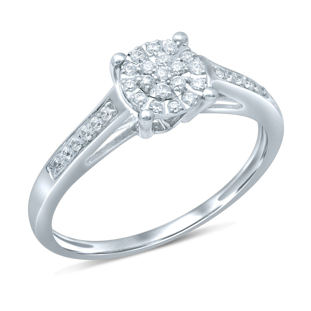 Martina Ring with 0.15ct of Diamonds in 9ct White Gold Rings Bevilles