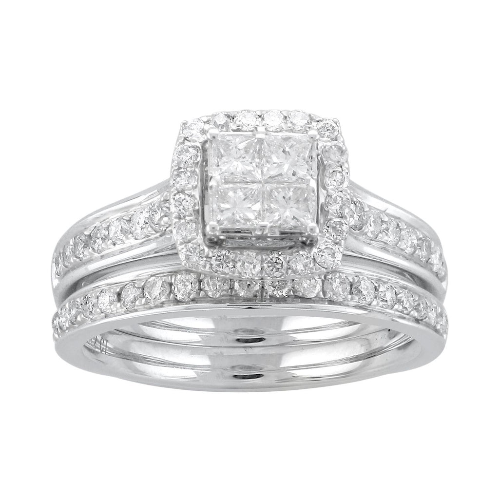 9ct White Gold 1.00ct Diamond Ring