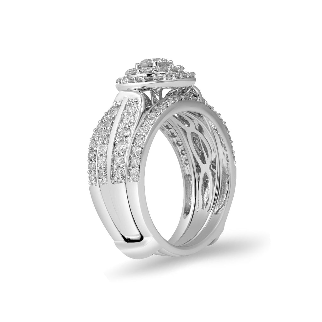 9ct White Gold 1.50ct Diamond Perfect Harmony Ring Rings Bevilles